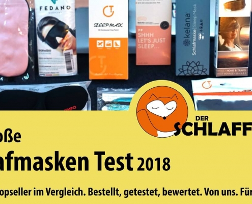 Schlafmasken Test 2018 Amazon Topseller Vergleich neu